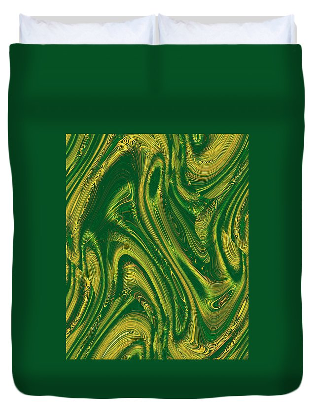 Moveonart! Digital Gallery Duvet Cover featuring the digital art Moveonart Opportunity Within Chaos by Jacob Kanduch