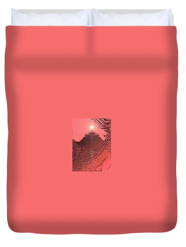 Moveonart! Digital Gallery Duvet Cover featuring the digital art Moveonart Orange Memories Four by Jacob Kanduch