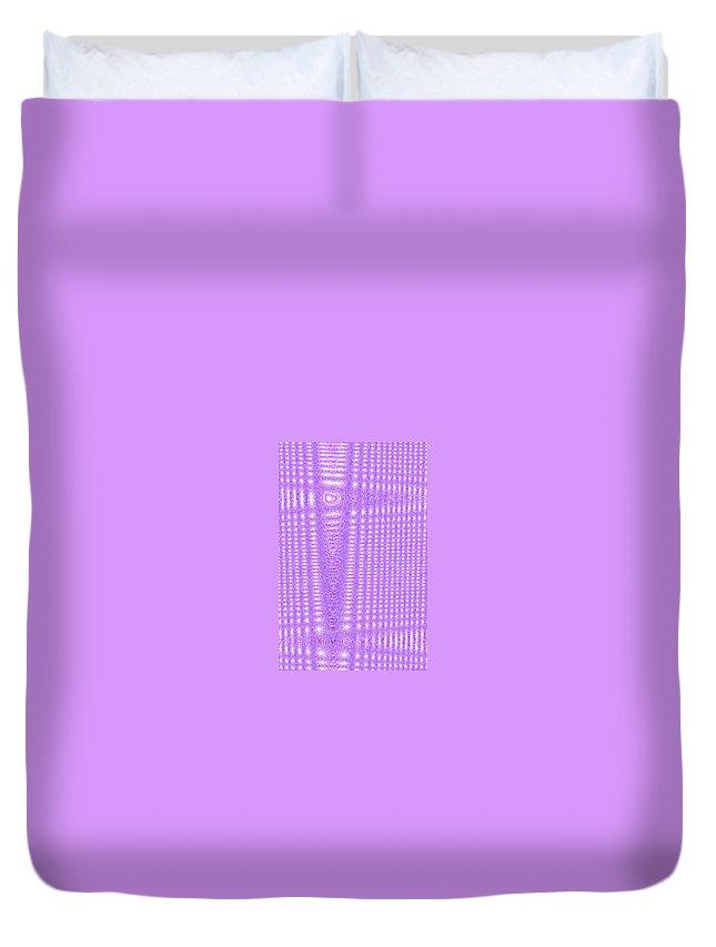 Moveonart! Digital Gallery Duvet Cover featuring the digital art Moveonart Purple Cords by Jacob Kanduch