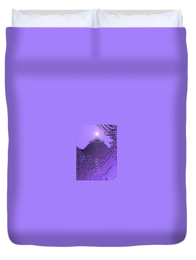 Moveonart! Digital Gallery Duvet Cover featuring the digital art Moveonart Purple Memories Two by Jacob Kanduch