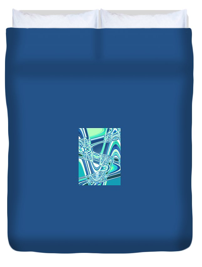 Moveonart! Digital Gallery Duvet Cover featuring the digital art Moveonart Sharing Our Strength by Jacob Kanduch