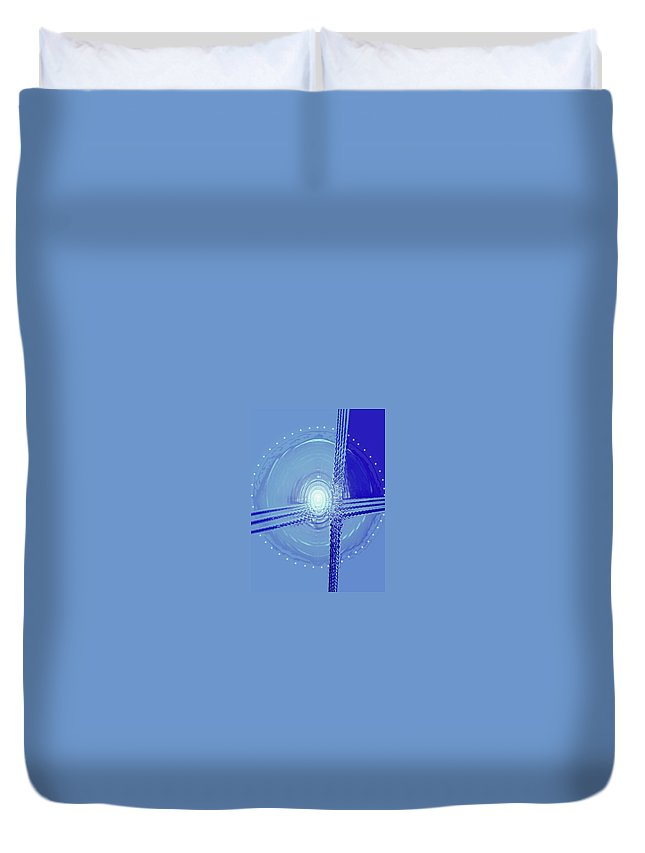 Moveonart! Digital Gallery Duvet Cover featuring the digital art Moveonart Shift In Time Four by Jacob Kanduch