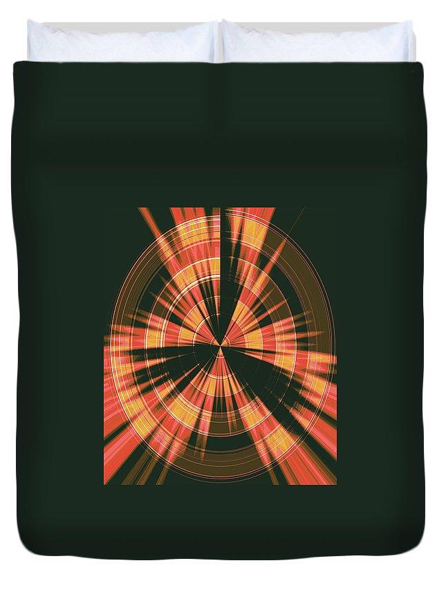 Moveonart! Global Gathering. -- Jacob Kane -- Omnetra Duvet Cover featuring the digital art Moveonart Spiritual Radar by Jacob Kanduch