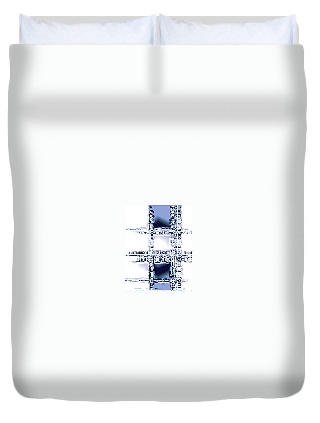 Moveonart! Digital Gallery Duvet Cover featuring the digital art Moveonart Time To Think by Jacob Kanduch