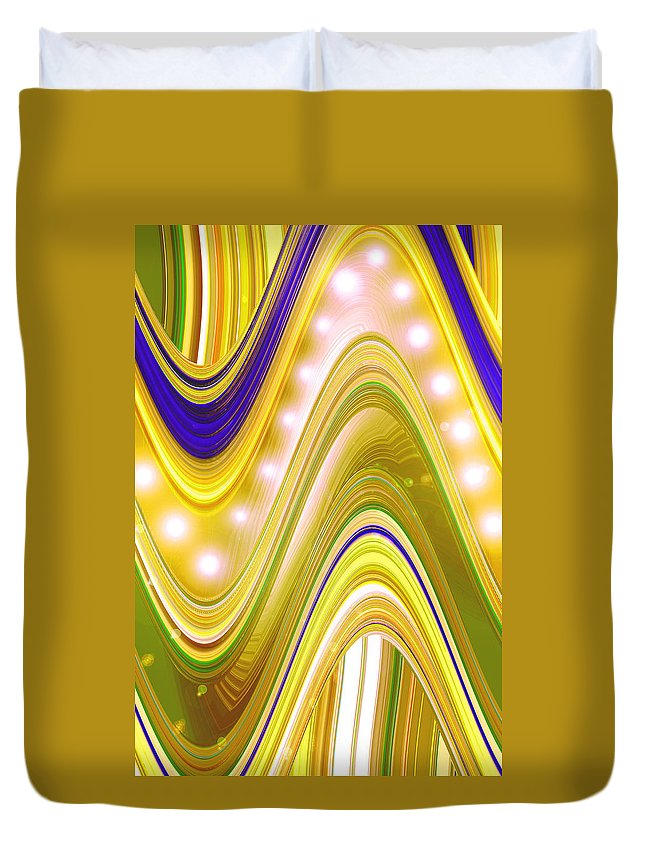 Moveonart! Digital Gallery Duvet Cover featuring the digital art Moveonart Wave Of Enlightenment Four by Jacob Kanduch