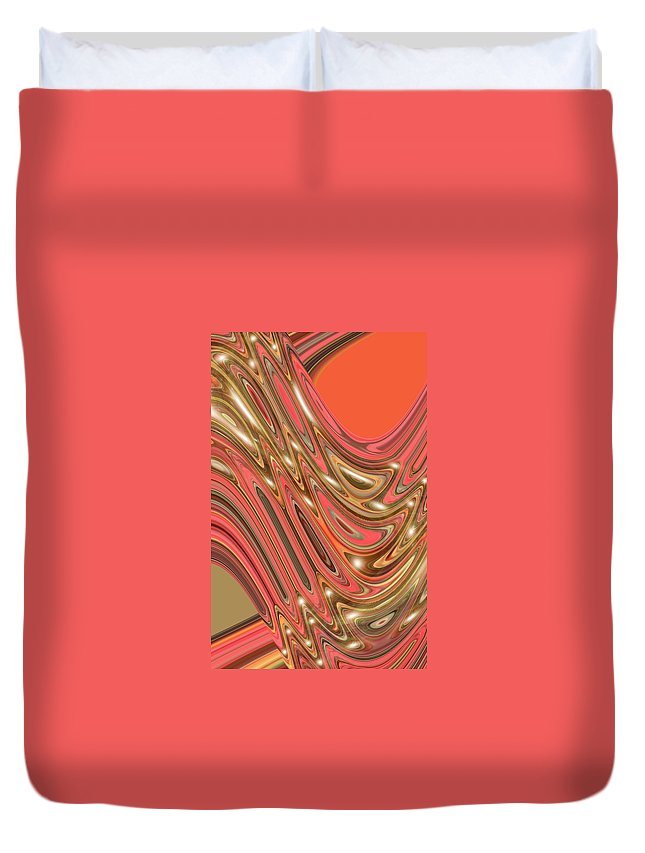 Moveonart! Digital Gallery Duvet Cover featuring the digital art Moveonart Waves Of Interpretation by Jacob Kanduch