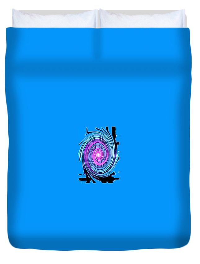 Moveonart! Digital Gallery Duvet Cover featuring the digital art Moveonart Waves Of Renewal I by Jacob Kanduch