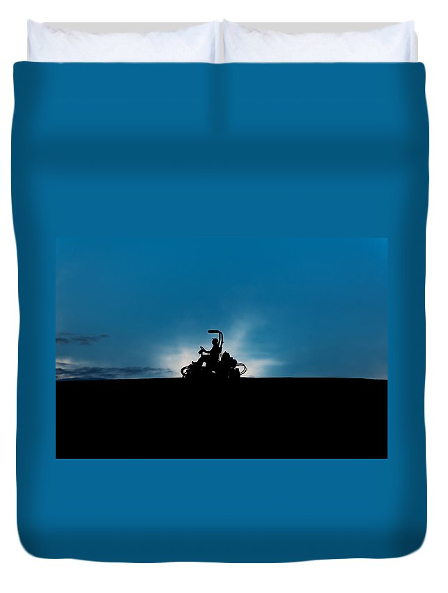Lawn Duvet Cover featuring the photograph Mover by U Schade