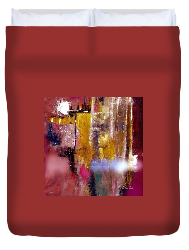 Abstract Duvet Cover featuring the painting Moving Light by Ruth Palmer