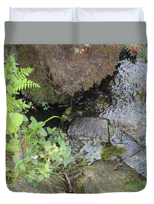 Water Duvet Cover featuring the photograph Moving Water by Emily Boltinghouse