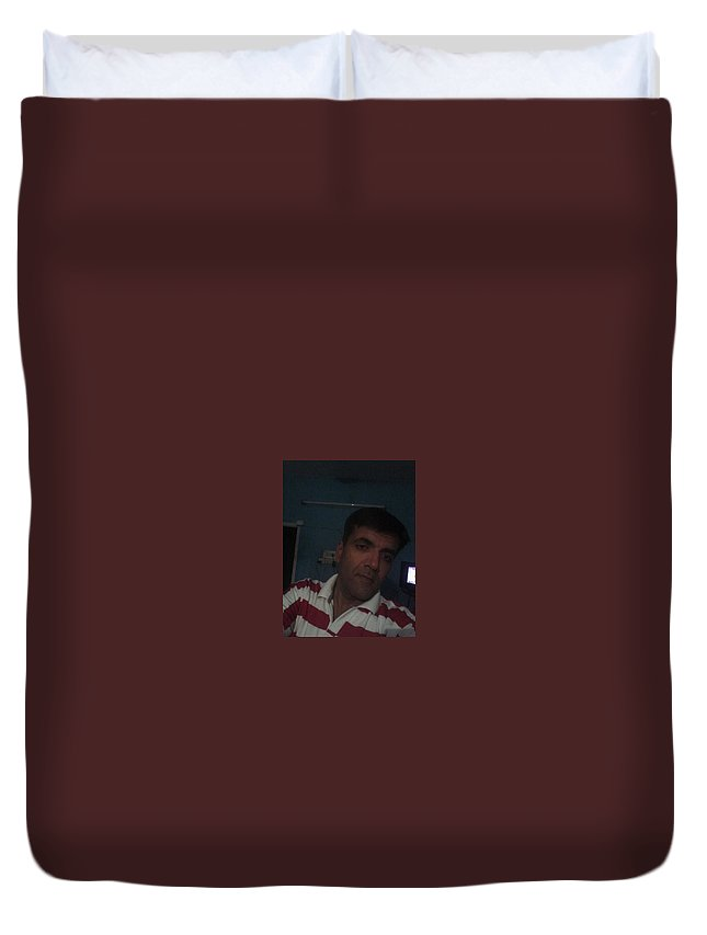Duvet Cover featuring the photograph Mr by Kamlesh Bhatt