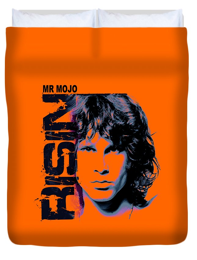 The Doors Duvet Cover featuring the digital art Mr Mojo Risin by Mal Bray