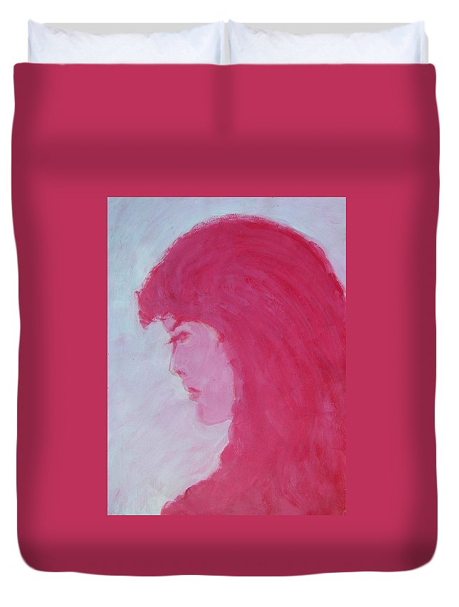 Abstract Duvet Cover featuring the painting Ms. Amanda by Judith Redman