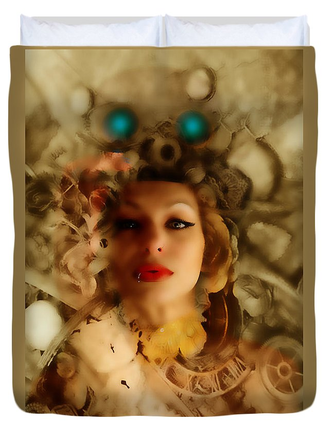 Steampunk Duvet Cover featuring the photograph Ms Lady Melissa by Bill Munster