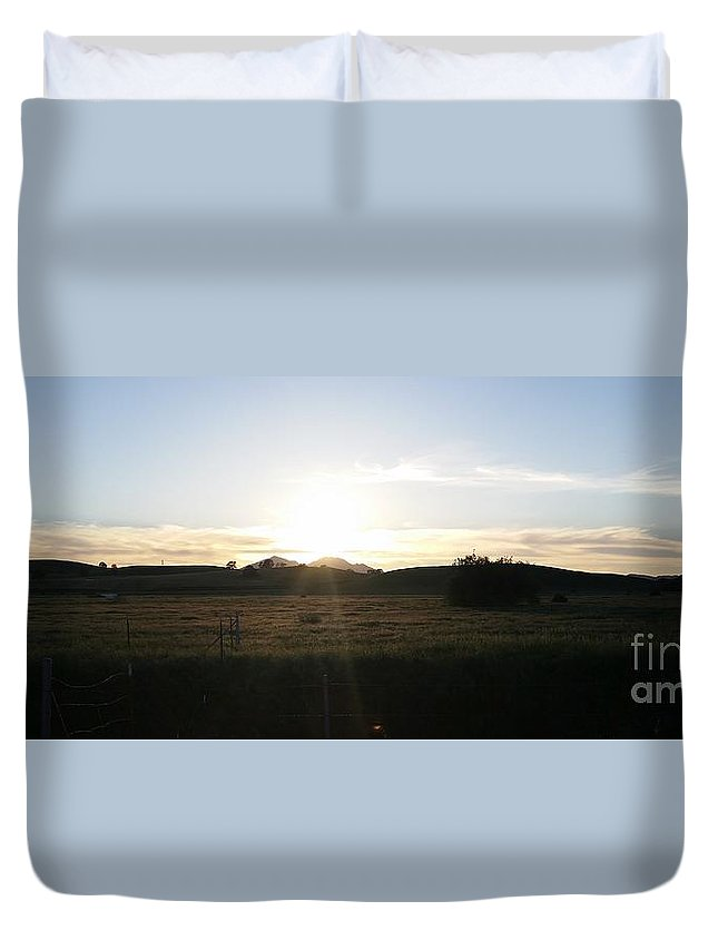 California Duvet Cover featuring the photograph Mt. Diablo Sunset by Brett Chambers