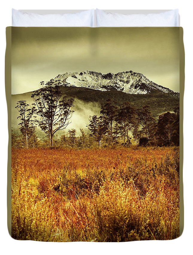 Forest Duvet Cover featuring the photograph Mt Gell. Tasmania National Park Of Franklin Gordon by Jorgo Photography - Wall Art Gallery