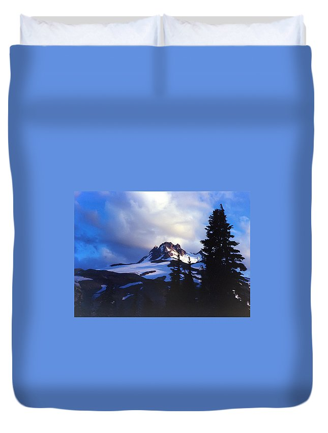 Oregon Duvet Cover featuring the photograph Mt. Jefferson Photograph by Kimberly Walker