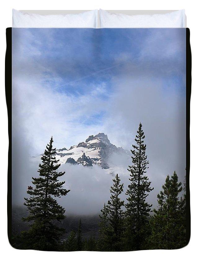 Landscape Duvet Cover featuring the photograph Mt. Rainer by Lisa Spero