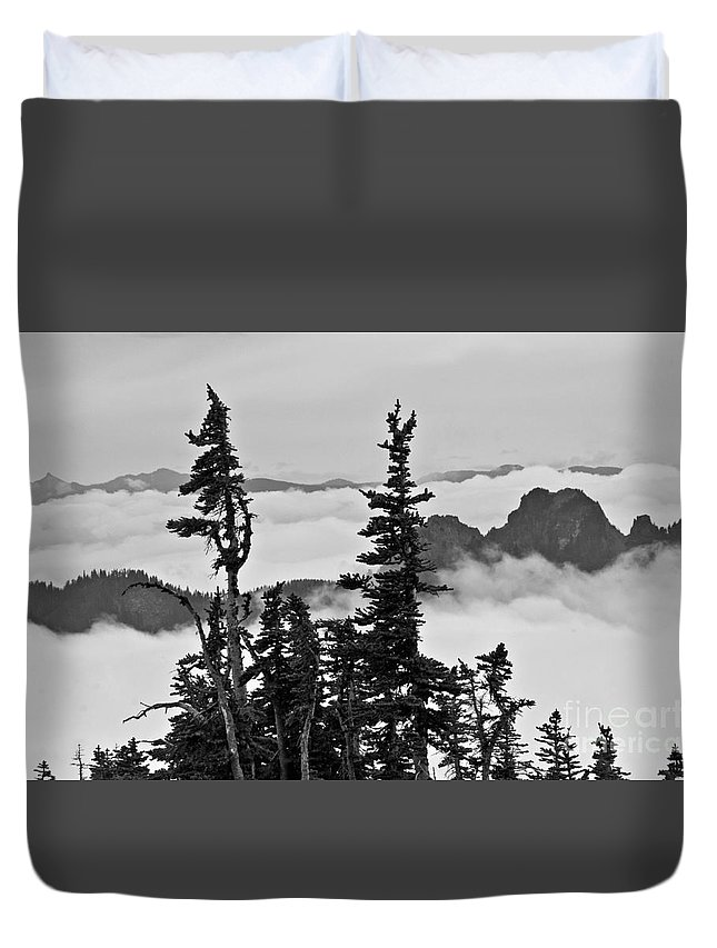 Mt Rainier Duvet Cover featuring the photograph Mt Rainier National Park by Bernd Billmayer