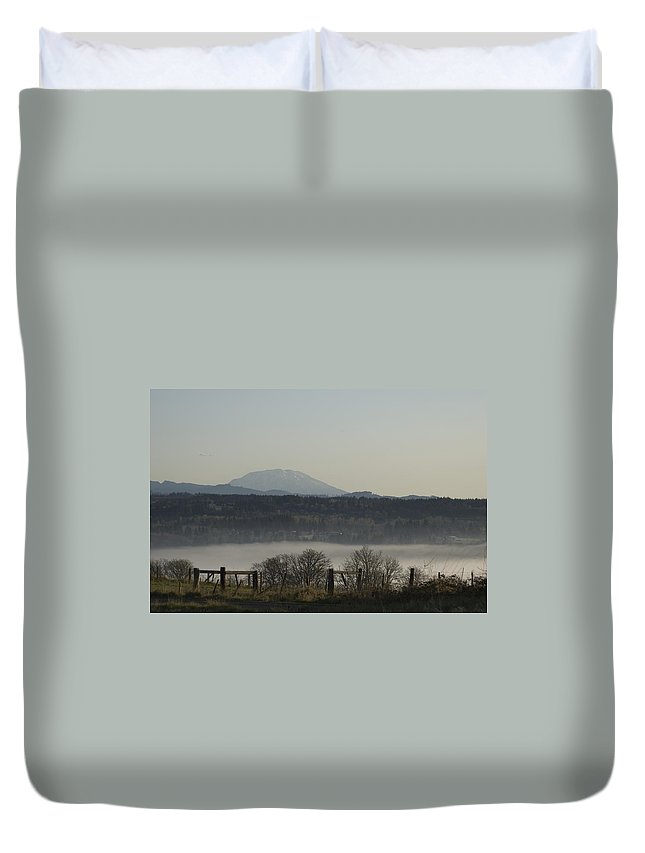 Volcano Duvet Cover featuring the photograph Mt St Helens by Sara Stevenson