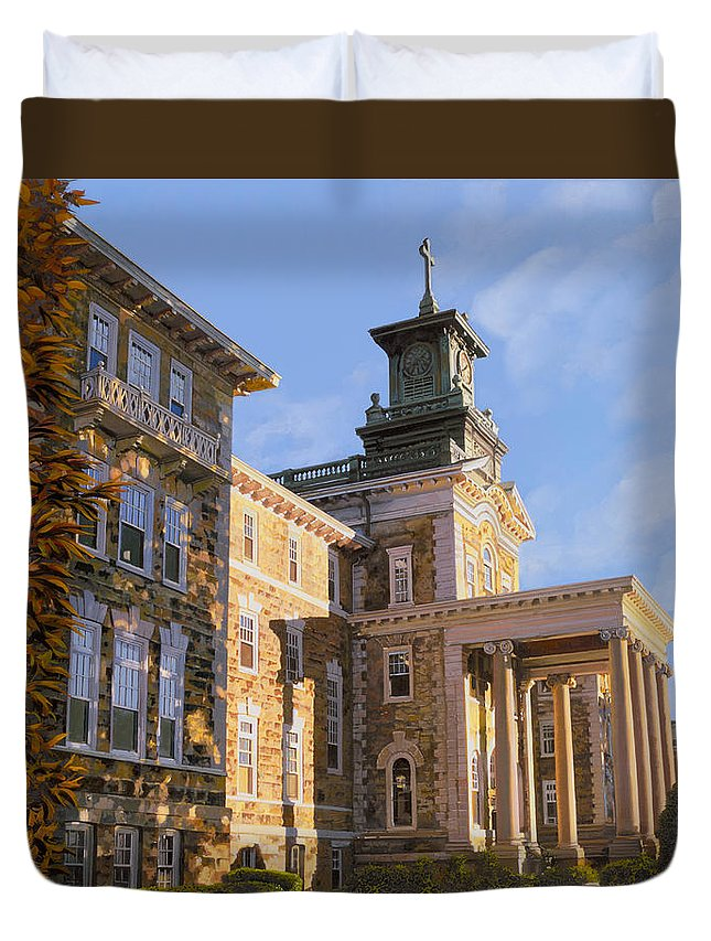New Jersey Duvet Cover featuring the painting Mt St.mary Academy by Guido Borelli