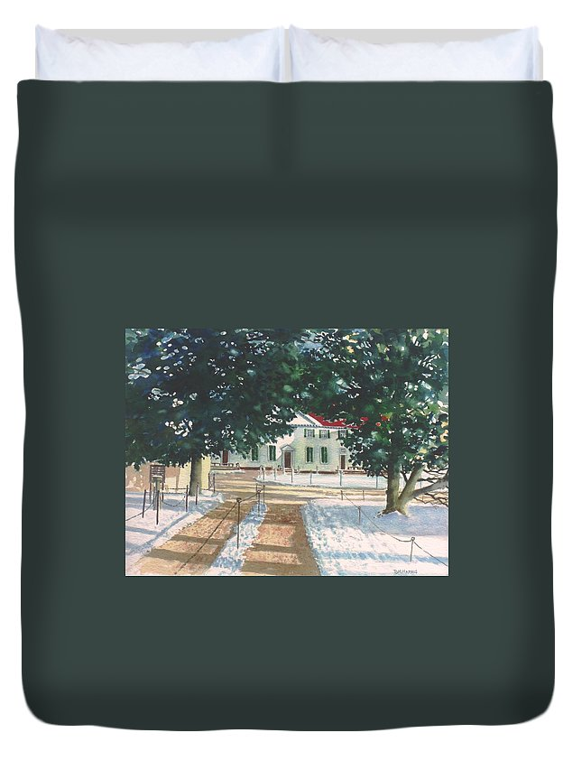 Landscape Duvet Cover featuring the painting Mt. Vernon After The Visitors Have All Gone Home by Tom Harris