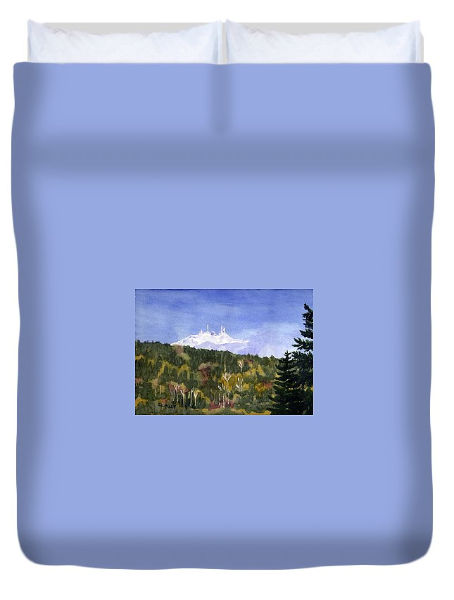 Landscape Duvet Cover featuring the painting Almost Mystical by Sharon E Allen