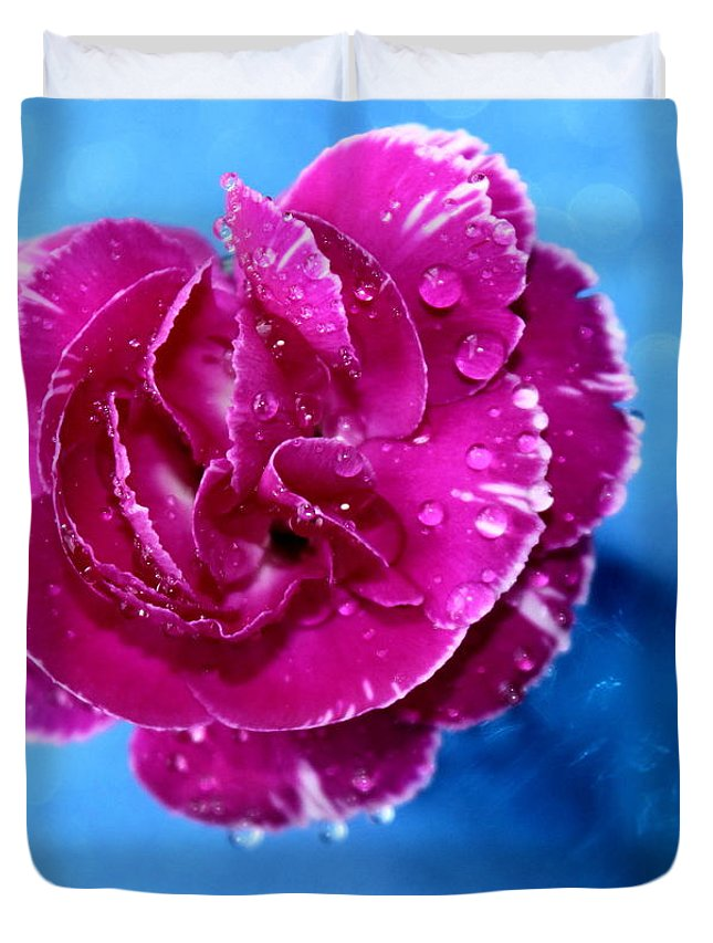 Carnation Duvet Cover featuring the photograph Much Love by Krissy Katsimbras