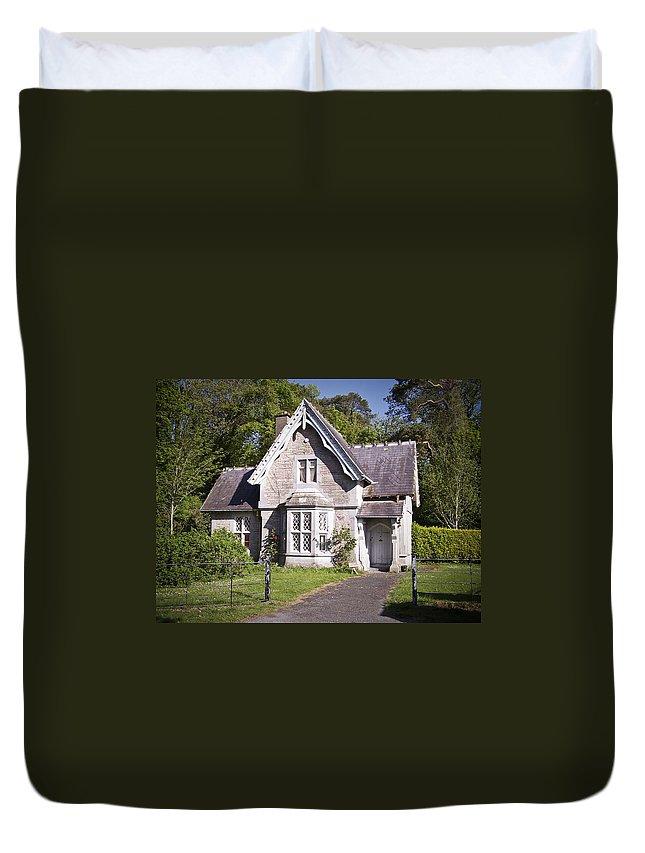 Irish Duvet Cover featuring the photograph Muckross Cottage Killarney Ireland by Teresa Mucha