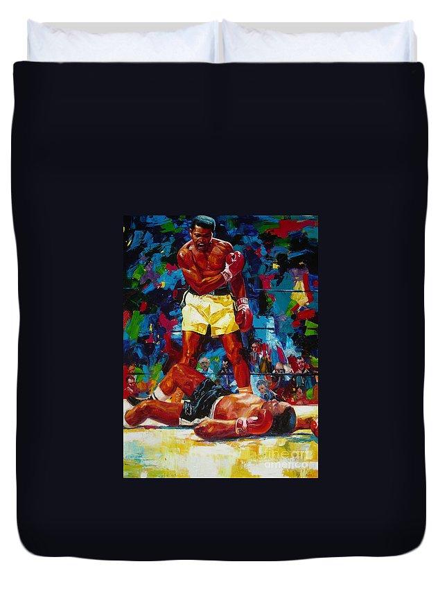 Ignatenko Duvet Cover featuring the painting Muhammad Ali by Sergey Ignatenko