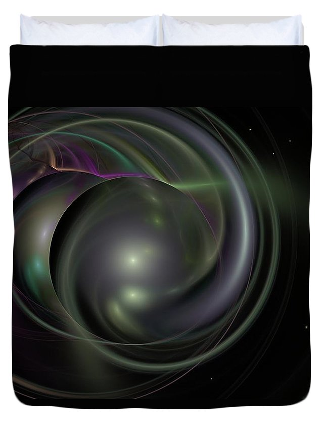 Fantasy Duvet Cover featuring the digital art Multiverse by David Lane