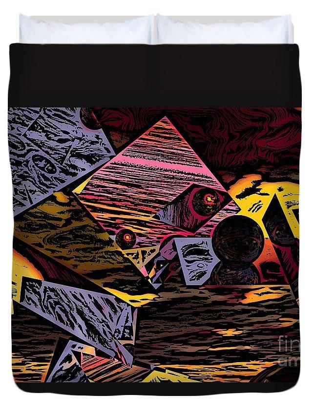 Duvet Cover featuring the digital art Multiverse II by David Lane