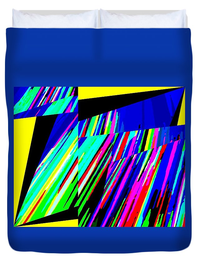 Abstract Duvet Cover featuring the digital art Muse 5 by Will Borden