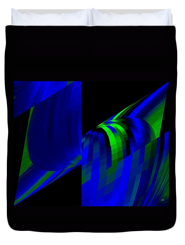 Abstract Duvet Cover featuring the digital art Muse 6 by Will Borden