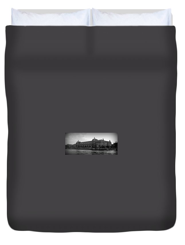 Paris Duvet Cover featuring the photograph Musee D'orsay by Carol Groenen