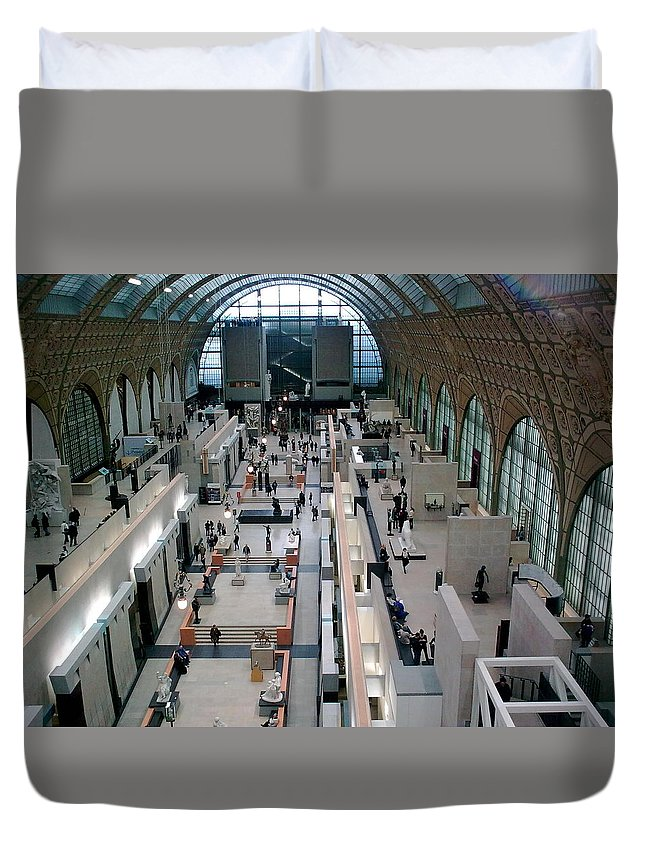 Museum Duvet Cover featuring the photograph Museum D'orsay Paris by Valerie Ornstein