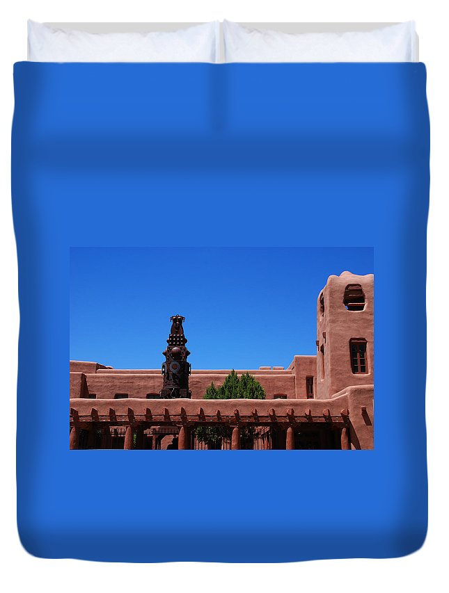 Museum Duvet Cover featuring the photograph Museum Of Indian Arts And Culture Santa Fe by Susanne Van Hulst