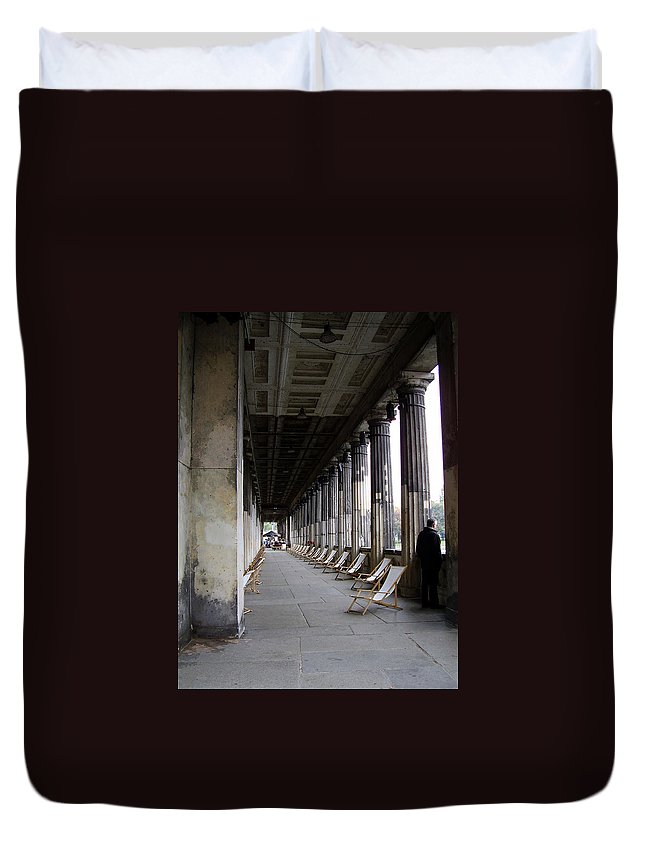 Museumsinsel Duvet Cover featuring the photograph Museumsinsel by Flavia Westerwelle