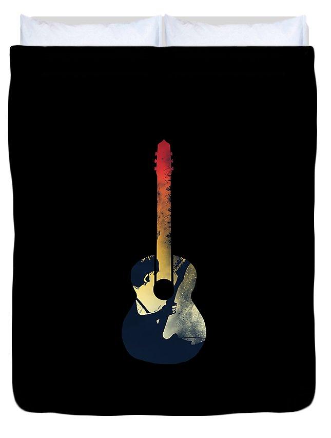 Beck Duvet Cover featuring the digital art Music by Albert Albert