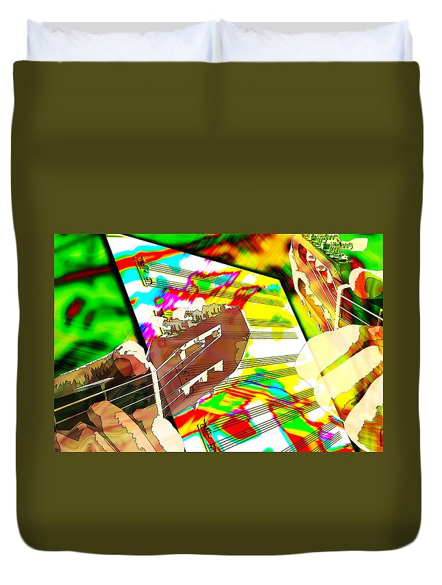 Guitar Duvet Cover featuring the digital art Music Creation by Phill Petrovic