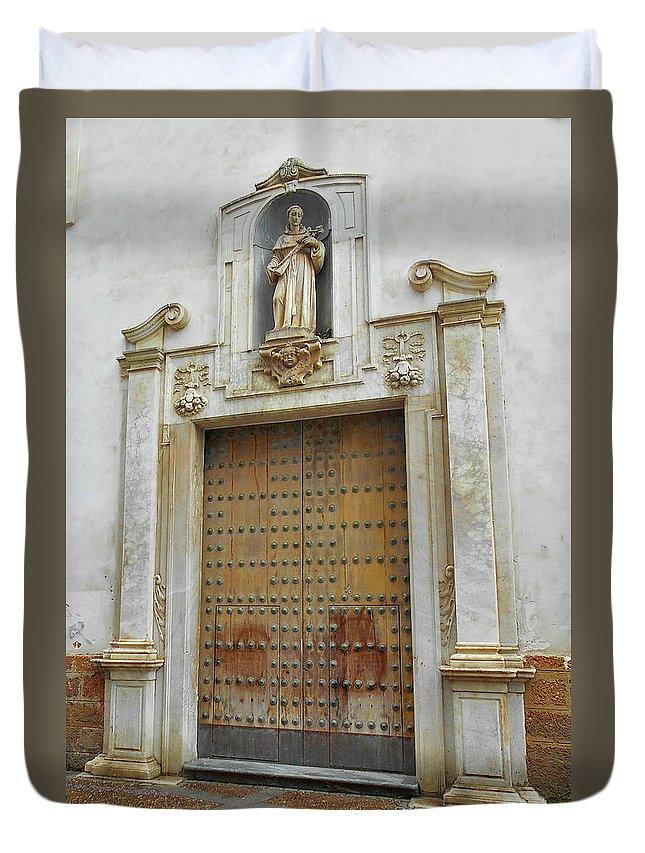 Landscape Duvet Cover featuring the photograph Music Door Cadiz by Mark Victors