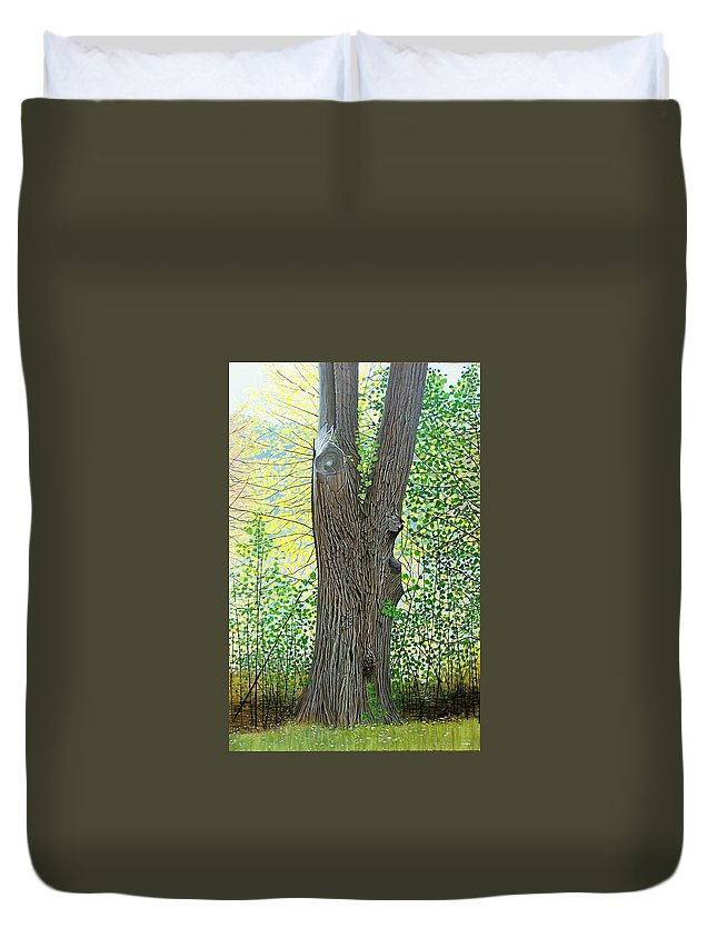Landscape Duvet Cover featuring the painting Muskoka Maple by Kenneth M Kirsch