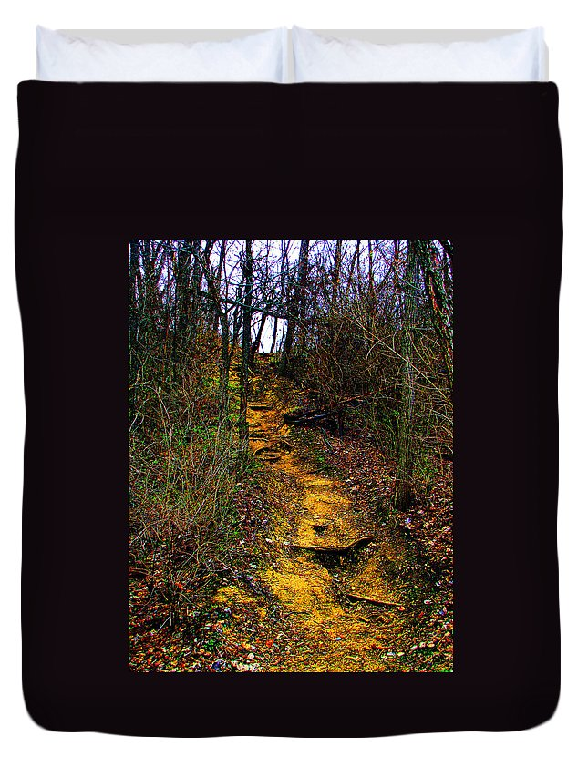 Hiking Duvet Cover featuring the photograph Mustard Hill by Marie Jamieson