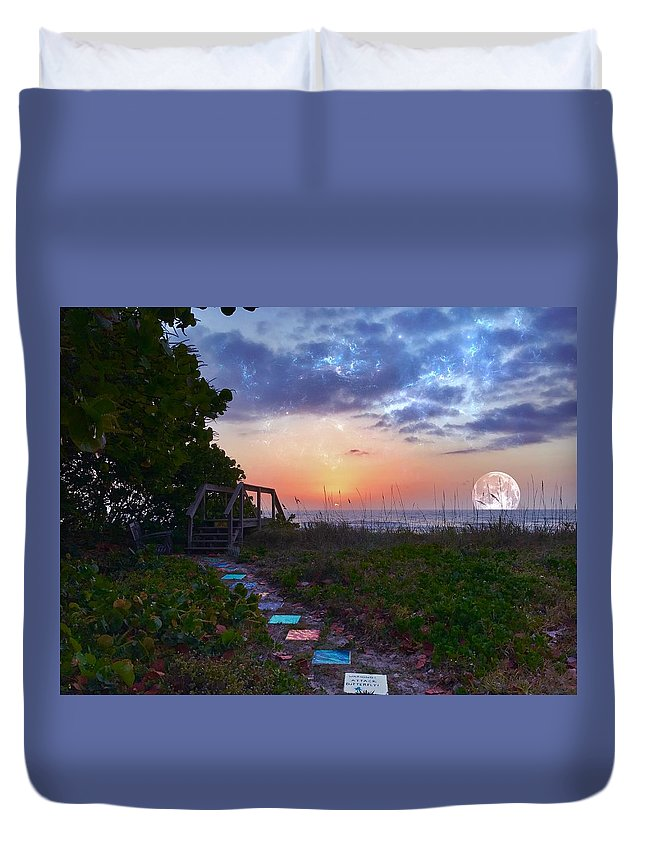 Sunrise Duvet Cover featuring the photograph My Atlantic Dream by Carlos Avila