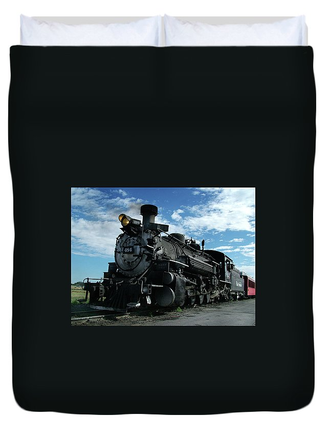 Steam Train Duvet Cover featuring the photograph My Best Side by Ken Smith