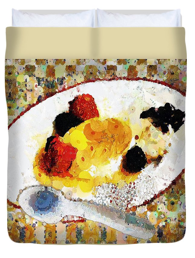 Dessert Duvet Cover featuring the painting My Dinner With Gustav by RC DeWinter