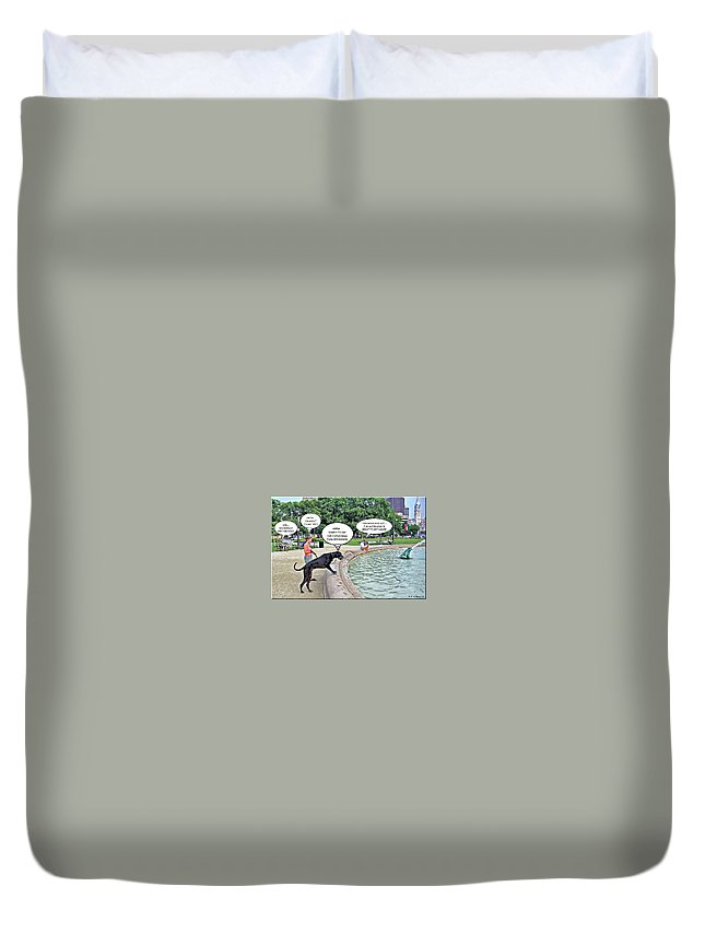 2d Duvet Cover featuring the photograph My Dog Tiny by Brian Wallace