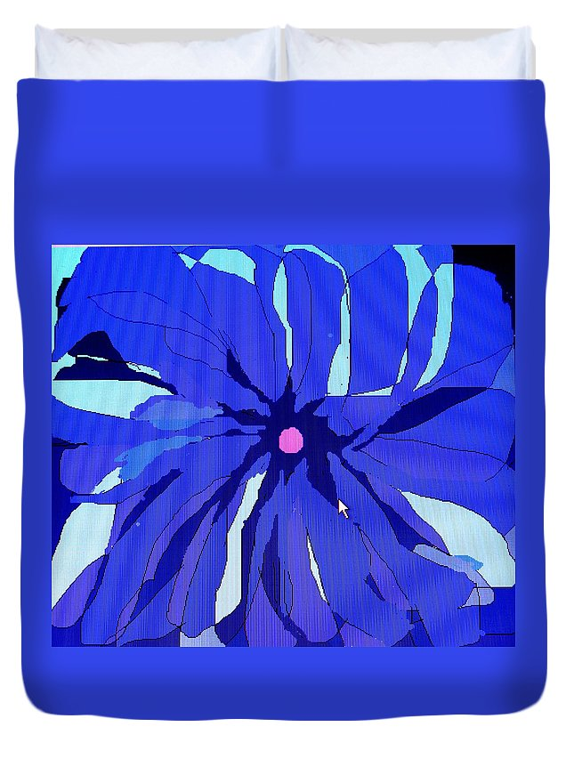 Flower Duvet Cover featuring the digital art My Fantastic Flower by Ian MacDonald