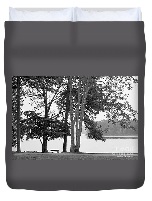 Landscape Duvet Cover featuring the photograph My Favorite Place by Todd Blanchard