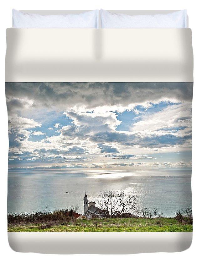 Landscape Duvet Cover featuring the photograph My Favourite Landscape by Marco Vissani